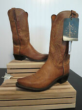 "Lucchese 1883 Men's ""Crayton"" Tan Mad Dog Goat Leather Cowboy Boot N1547"