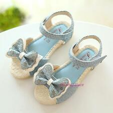 New 2016 Summer Kids Baby Young Girls Sweet Bow Open-toed Dress Sandals Shoes