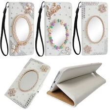 MIRROR RHINESTONE BLING COMPACT DECO FOR IPHONE 5/5S/6/7 PLUS WALLET CASE #LCRW