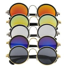 Hot Women Men Unisex Fashion Vintage Retro Round Mirror Lens Sunglasses QT