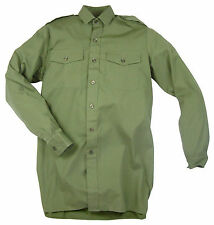 British Army General Service Long Sleeve Shirt Olive Green Cadet Military