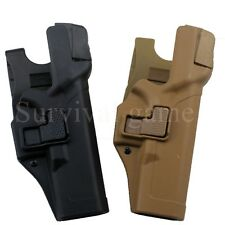 Tactical Level 3 Lock Right Hand Waist Belt Pistol Holster for Glock 17 19 22