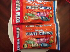 TOOTSIE ROLLS FRUIT CHEWS ASSORTED FRUIT ROLLS 4 BAGS BRAND NEW/SEALED!!!
