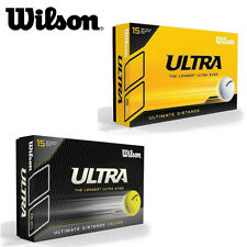 """Wilson Ultra Ultimate Distance Golf Balls 15 Ball Pack White Or Yellow """"New"""""""