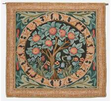 "'ORANGE TREE' French Woven William Morris Quality Tapestry Wall Hanging 33""x 34"""