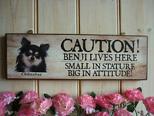 CHIHUAHUA SIGN DOG SIGN YOU CHOOSE THE NAME SIGN BESPOKE SIGN YOUR OWN WORDING