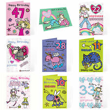 Personalised Birthday Card for Girls Women Ladies Any Name & Age 18th 21st 40th