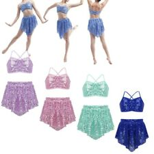 Girls Kids Ballet Dance Wear Tutu Skirt Leotard Party Dress Ballerina Costumes
