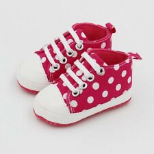 Cute Kids Infant Baby Shoes Polka Dot Pattern Canvas Crib Shoes Casual Shoes