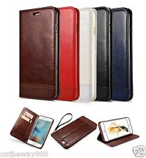 Genuine Leather Removable Wallet Flip Card Case Cover for Apple iPhone 6S 7 Plus