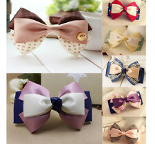 7 Color Baby Girl's Handmade 4 Inch Bowknot Hair Bows Clip Headbands Hair Pin