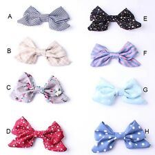 1pcs Big Boutique Cute Girls Women's Girl's Cotton Hair Bow Hair Clips Hairpin