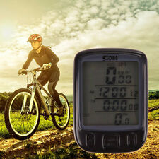 Wireless Wired LCD Backlight Bike Bicycle Cycling Computer Odometer Speedometer