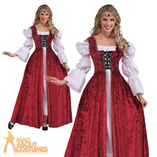 Adult Ladies Medieval Maiden Gown Renaissance Princess Fancy Dress Outfit New