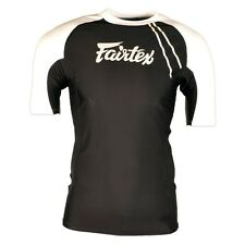 Fairtex Black-White Short Sleeve Rash Guard