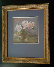 RISA MOLDOVAN Fine Art Original PASTEL, Flowers in Vase, Signed, 23.5 x 19.5