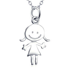 Boy /Girl Lover Necklace CZ 925 Sterling Silver Charm Pendant Jewelry