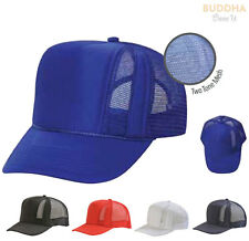 DESIGNER TRUCKER HATS CAPS WITH FRONT MESH BLANK SNAPBACK ADJUSTABLE