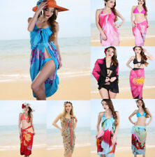 Womens Chiffon Bikini Summer Beach Swimwear Sarong Wrap Cover Dress Scarf Pareo