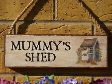 PERSONALISED MUMMYS SHED MUMS SHED HER SHED HIS SHED GARDEN SIGN WEATHERPROOF
