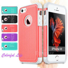 New High Impact Shock Resistant Hybrid Dual Layer Case Cover for iPhone 5 5S SE