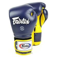 Fairtex Mexican Style Boxing Gloves Muay Thai Boxing - Blue Yellow