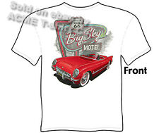 1953 1954 1955 Corvette T Shirt 53 54 55 Chevy Tee Route 66 Motel M L XL 2XL 3XL