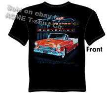 Classic Car T Shirts 55 Chevy Tee 1955 Bel Air Convertible Sz M L XL 2XL 3XL