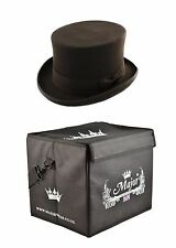 Quality Black Wool Felt Fashion Top hat (Major Wear) satin lined with Hat Box