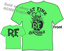 Ratfink T Shirts Ed Roth Rat Fink Big Daddy Clothing Ed Roth T Shirts Green Tee