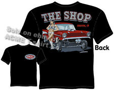 57 Chevy Gasser T Shirt 1957 Chevrolet Tee Vintage Drag Racing Clothing Classic