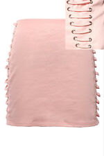TOPSHOP RARE** SEXY PINK LACE UP SKIRT UK 6,8 & 10 BNWT RRP £48