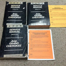 2005 JEEP GRAND CHEROKEE Service Repair Shop Manual INCOMPLETE SET W Bulletins