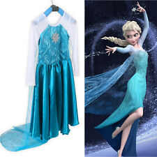 Disney Frozen Queen Elsa Girl's Cosplay Costume Party Princess Dress 2-7yrs