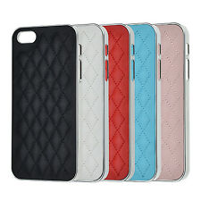 Deluxe Case iPhone 5 5S SE Chrome Leather Look Protective Cover Aluminium Cover