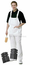 ProDec Painters & Decorators Bib & Brace White Cotton **WITH KNEE PADS** (PC187)