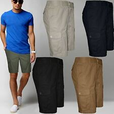 NEW MENS CHINO CARGO COMBAT SHORTS KNEE LENGTH COTTON H&M BRANDED BOTTOM PANTS