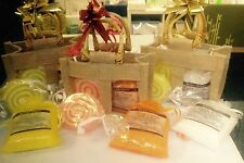 Aromatherapy Jude Gift Bag Set 200g Bath Salts & Soap With Essential Oils Bar