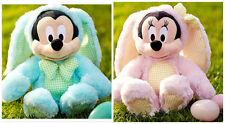"NWT Disney Exclusive Easter egg Bunny PLUSH MINNIE & MICKEY MOUSE 12"" USA"