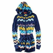 NEW! Missoni Heavy Knit Long Sweater Hoodie Coat w/ pockets - Blue VIA Chevron