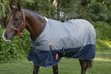 Capriole Grey/Navy 1200D Winter Waterproof Turnout Horse Rug-250G Fill