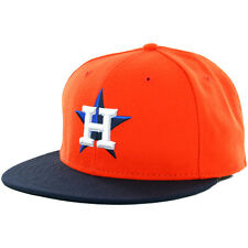 "New Era 59Fifty Houston Astros ""Alternate"" 2016 Fitted Hat (Orange-Navy) MLB Cap"