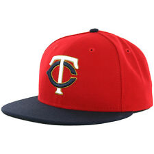 """New Era 59Fifty Minnesota Twins """"Alternate 2"""" 2016 Fitted Hat (Red-Navy) MLB Cap"""