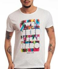 HOMEMADE FABRIC t-shirt Man white woman INSERT COIN HERO clothing Made in Italy