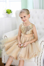 NEW Flower Girl Dress  Party Princess Vintage Special Wedding formal occasions