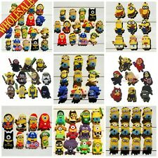 100pcs Minions Despicable me Shoe Charms Decoration for clogs Silicone Wristband