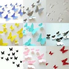 3D Butterfly Design Art Decal Home Decor Room Wall Stickers Decoration 12 PCS