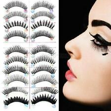 10 Pairs Makeup Fake Eye Lashes False Eyelash Soft Black Natural Thick Cosmetic