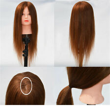 Salon Cosmetology Hair Hairdressing Training Head Mannequin + Clamp Holder