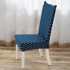 Super Fit Stretch Dots Dining Room Office Chair Cover Seat Slipcover Protector